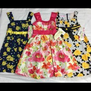 Girls Sun Dress Party Dress-up Summer Lot of 3